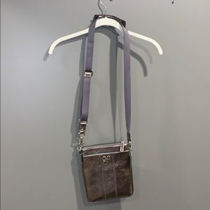 Coach Silver Metallic Crossbody